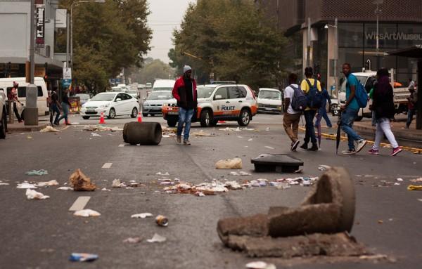 Le centre de Johannesburg vendredi