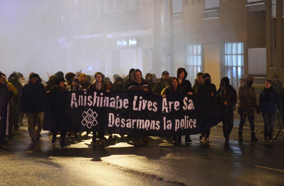 La manifestation d'hier soir à Montréal