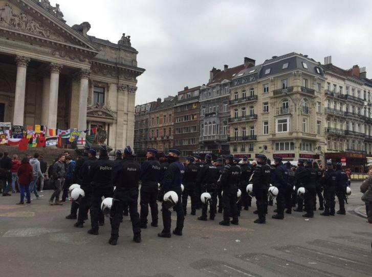 La police à la Bourse
