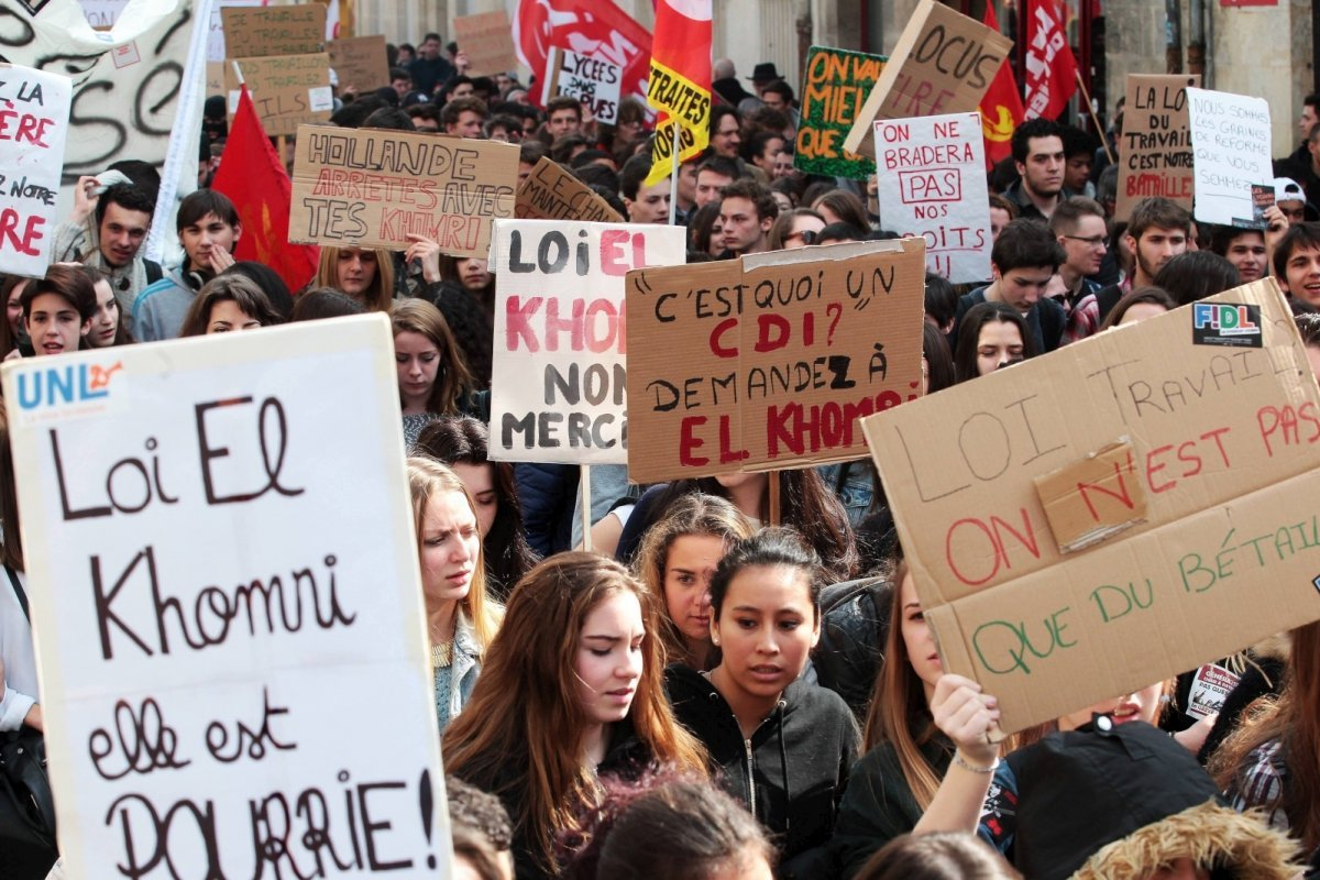 Manifestation lycéenne contre la loi Travail