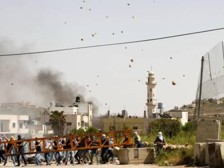 Caillassage à Hébron