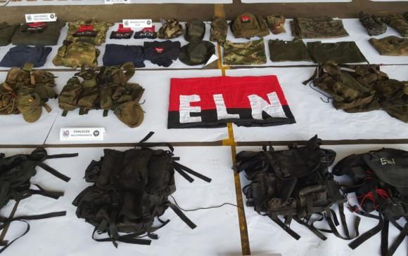 Une partie des équipements récupérés par les militaires