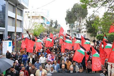 Manifestation du FPLP contre Mahmoud Abbas à Ramallah, avril 2016