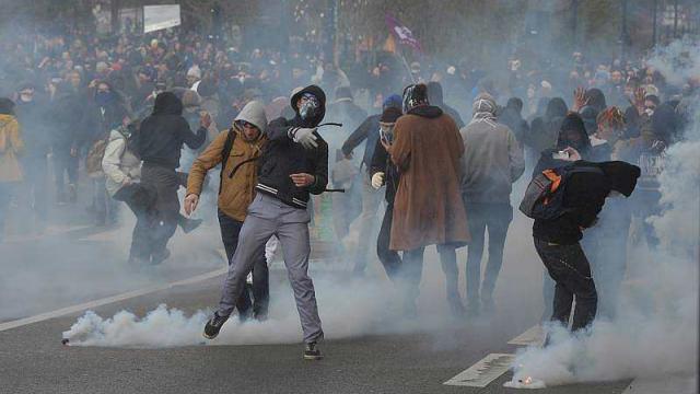 Les affrontements de Nantes