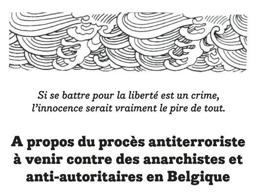 Plus d'infos sur le procès anti-anarchiste qui s'annonce