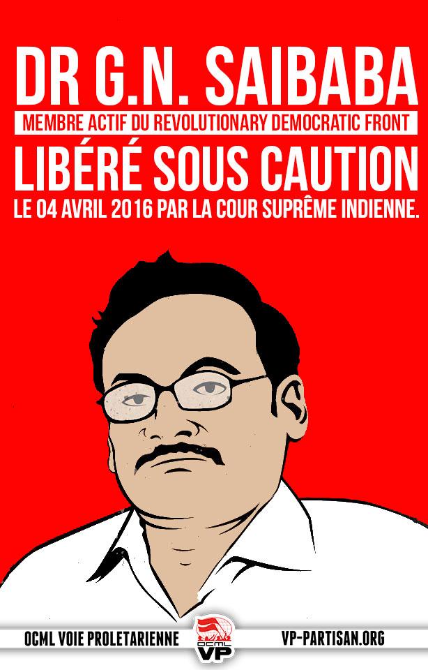 Affiche solidaire pour Saibaba