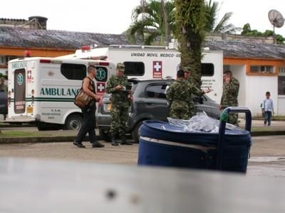 Evacuation du corps du militaire tué aujourd'hui