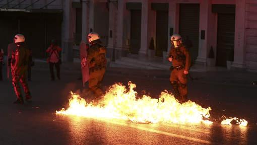 Affrontements ce dimanche soir à Athènes