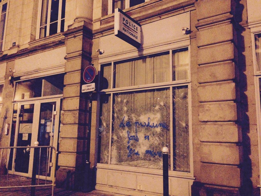 Le commissariat rue Penhoët à Rennes: