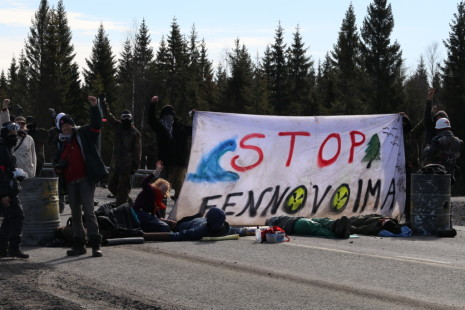 Blocage de route à Fennovoima