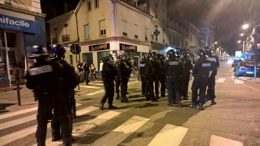 Déploiement policier hier soir à Grenoble