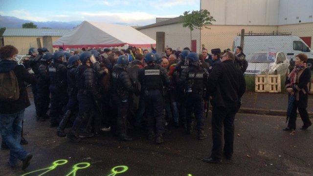 Intervention des gendarmes à Cournon-d'Auverne
