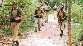 Patrouille anti-guérilla de la police du Jharkhand
