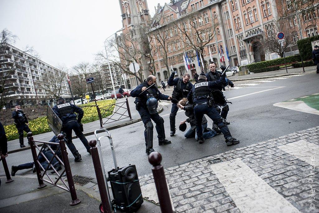 Arrestation à Lille lors de la manifestation du 31 mars