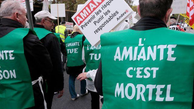 Manifestation de victimes de l'amiante (archives)