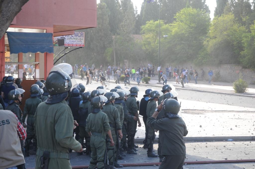 Les affrontements de Marrakech