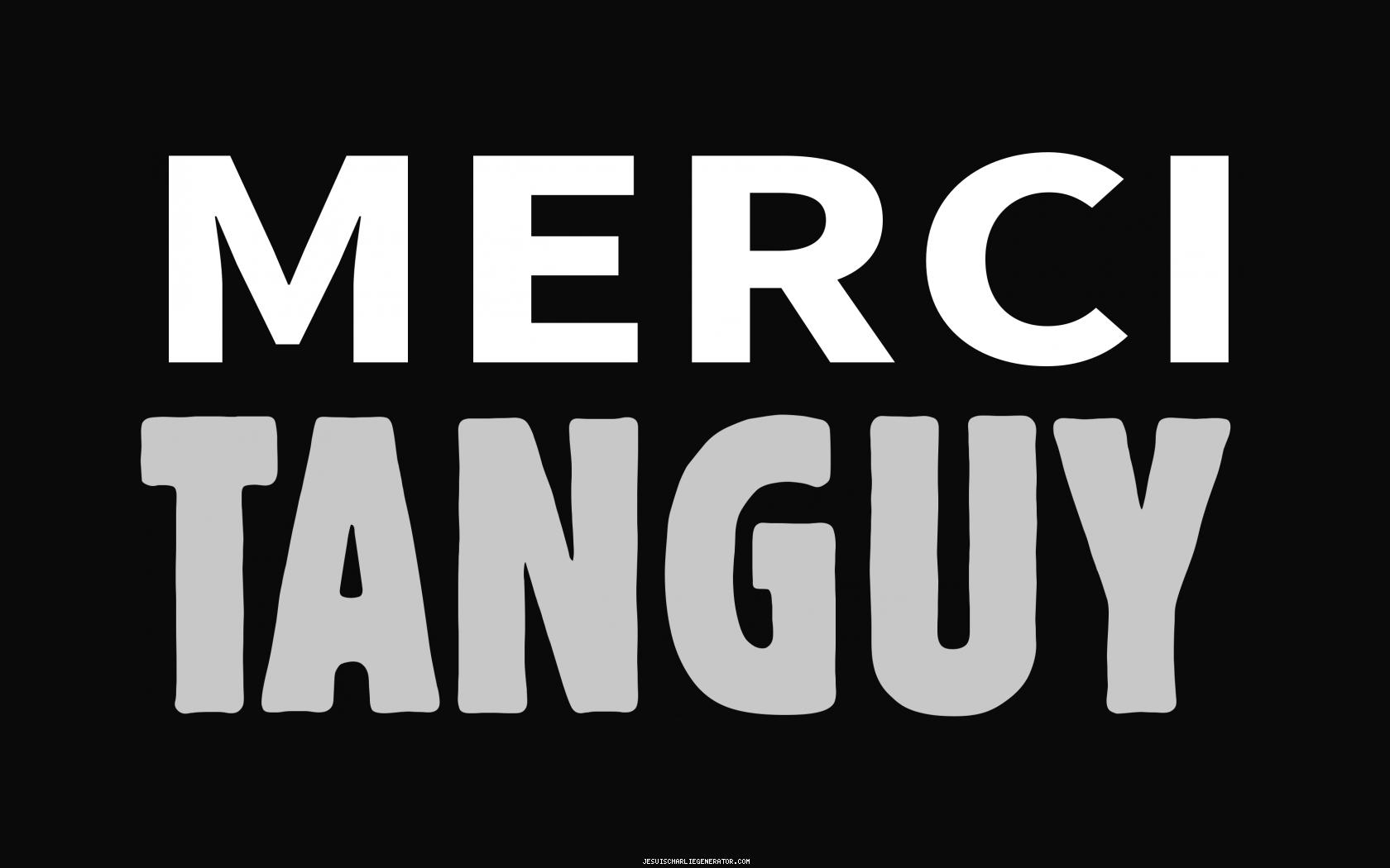 Merci Tanguy