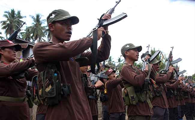 Un groupe de guérilleros lors des dernières libérations