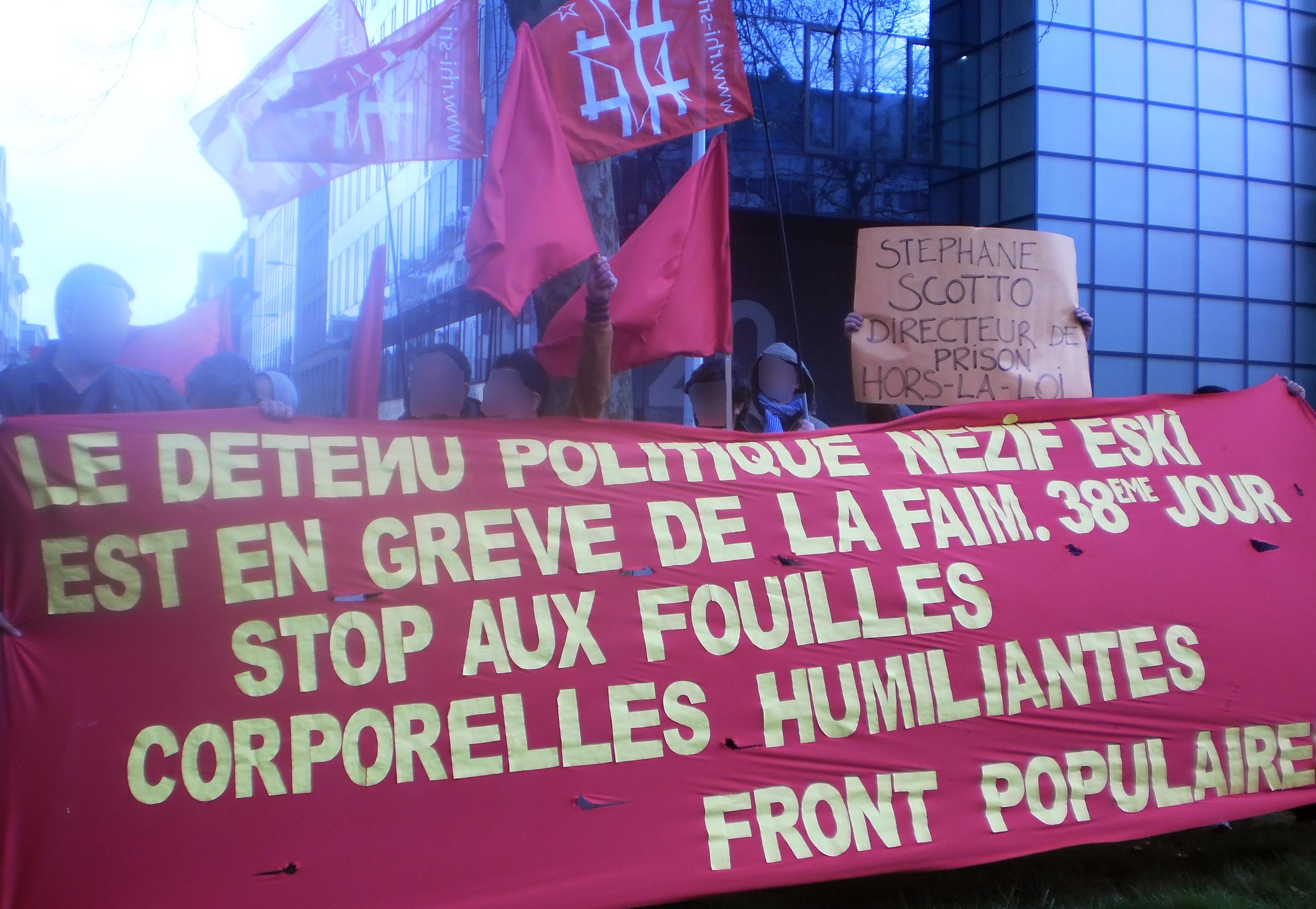 Rassemblement à Bruxelles en 2013 en soutien à Nezif Eski