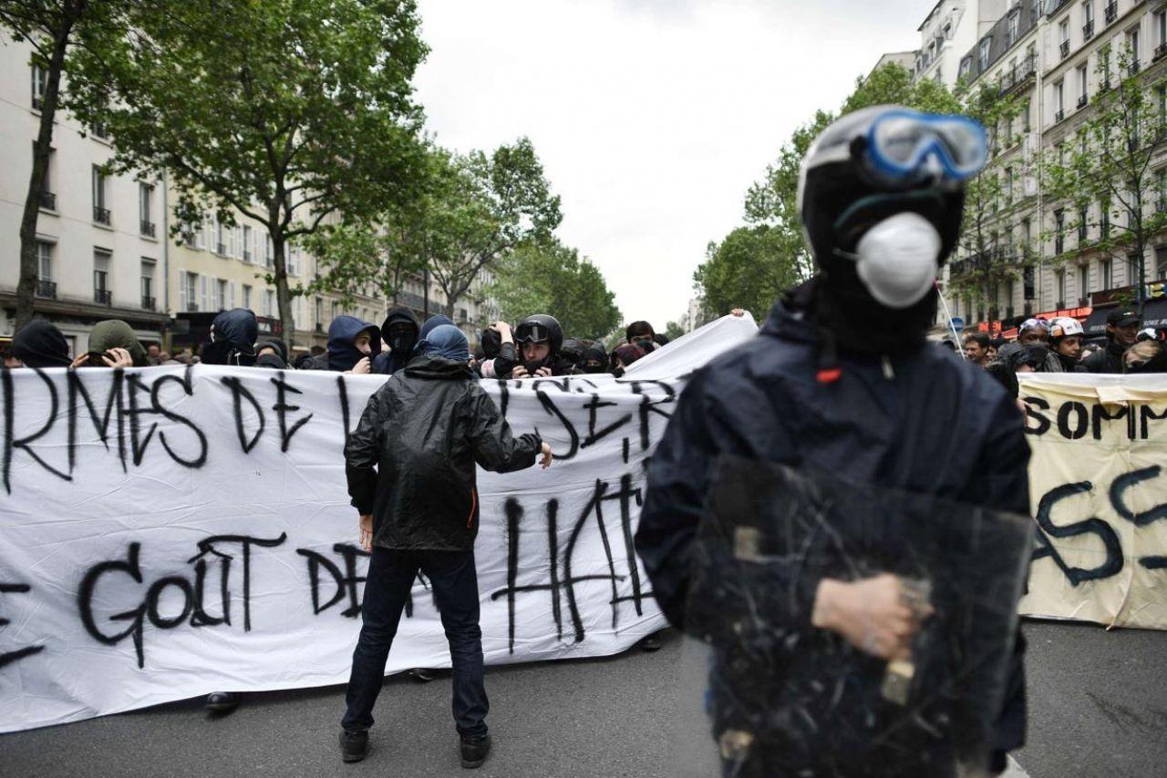 Le black bloc de cet après-midi à Paris