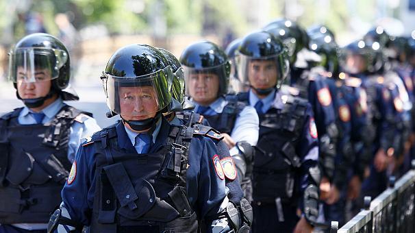 Policiers kazakhs