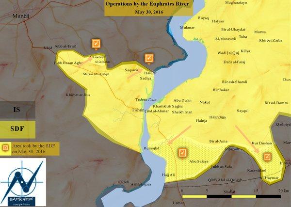 Le front de Manbij réouvert.