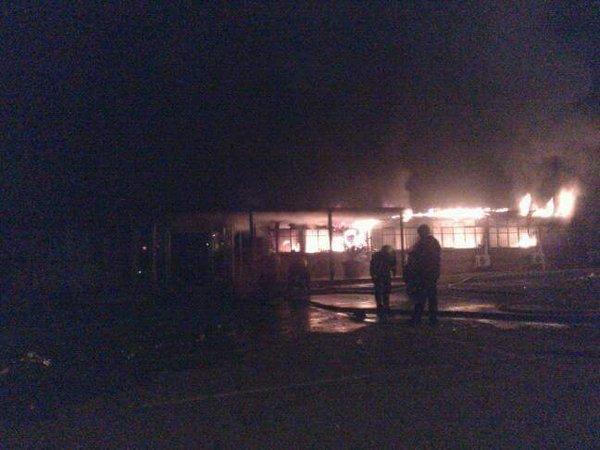 Bâtiment incendié à la VUT mercredi