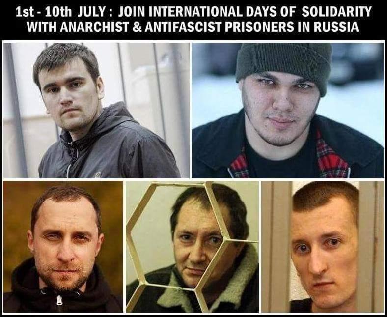 Solidarité avec les prisonniers anarchistes et antifa en Russie