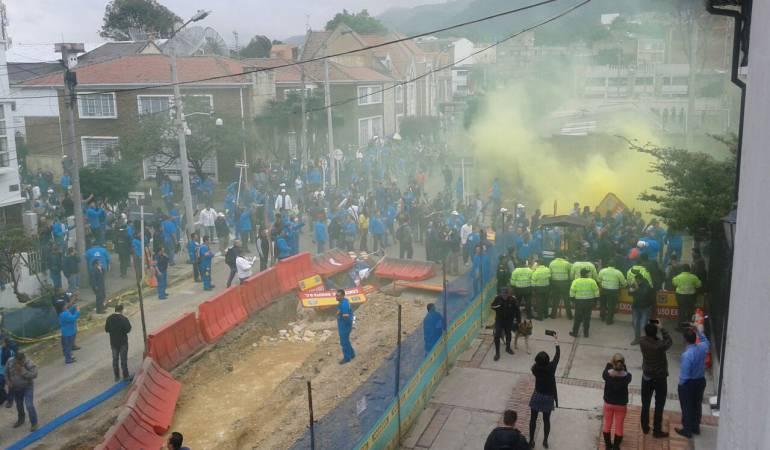 Les affrontements de lundi à Bogota