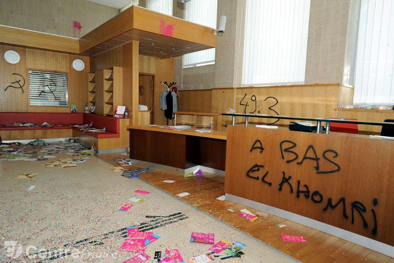 Le Conseil départemental après le passage de la manifestation contre la loi Travail