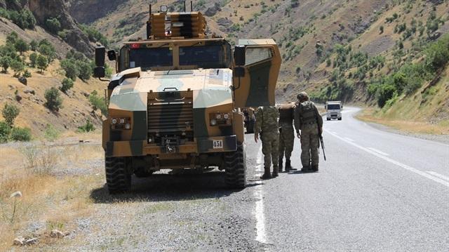 Le lieu de l'embuscade, sur la route Hakkari-Çukurca