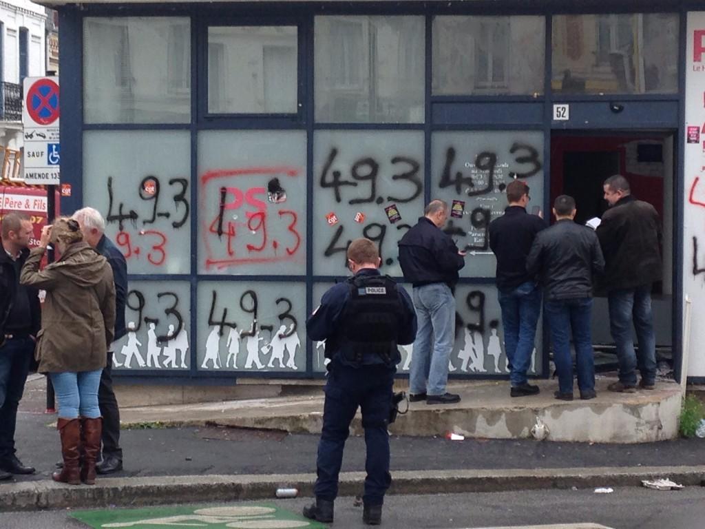 Le siège du PS au Havre, le 12 mai