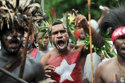 Manifestants indépendantistes papous