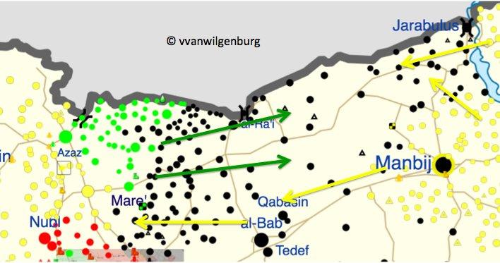 La situation actuelle à Manbij.