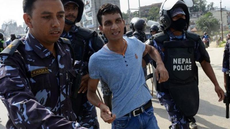Arrestation à Katmandou