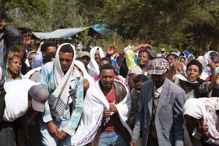 Manifestation après la mort d'un Oromo tué dans le village de Yubdo