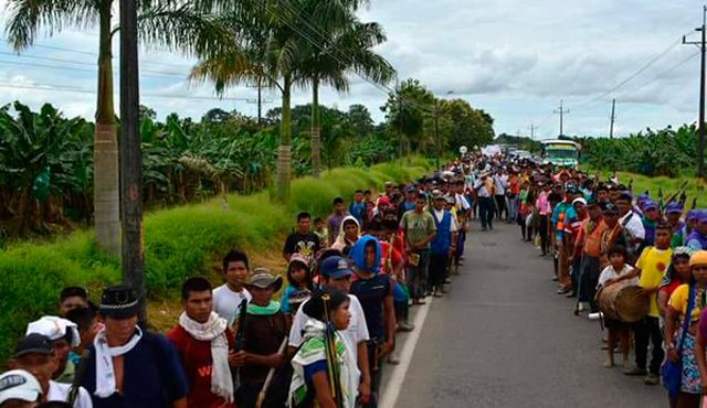 Manifestation indigène ce lundi en Colombie