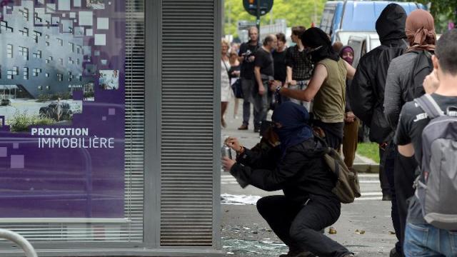 Tagage lors de la manifestation de Rennes