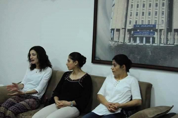 Les trois femmes membres de REPAK déportées à Slemani.