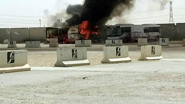 Camions de la société incendiés par les ouvriers non payés