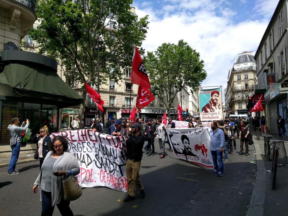Manifestation pour Georges Abdallah