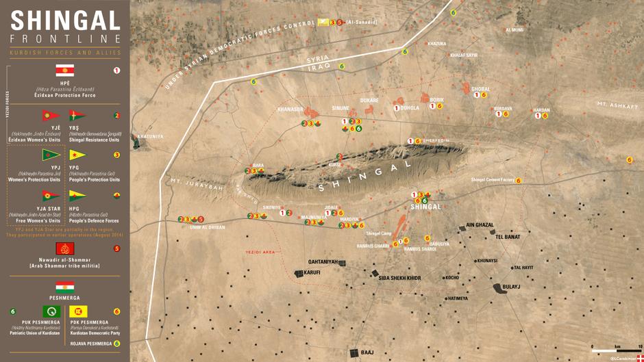 Carte du Mont Shengal