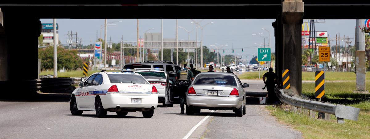Le lieu de la fusillade à Baton Rouge