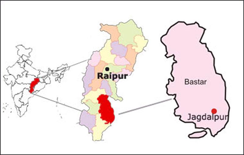La région du Bastar, dans l'état du Chhattisgarh