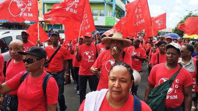 Manifestants de la CGTM