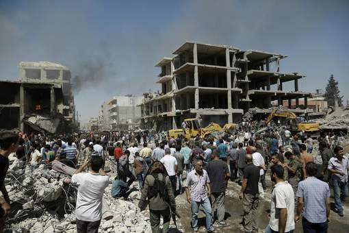 Le théâtre de l'attentat à Qamichli