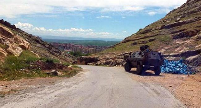 Le lieu de l'embuscade sur la route Semdinli-Aktutun