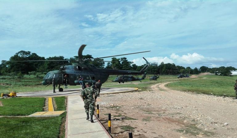L'héliport militaire de Tibu