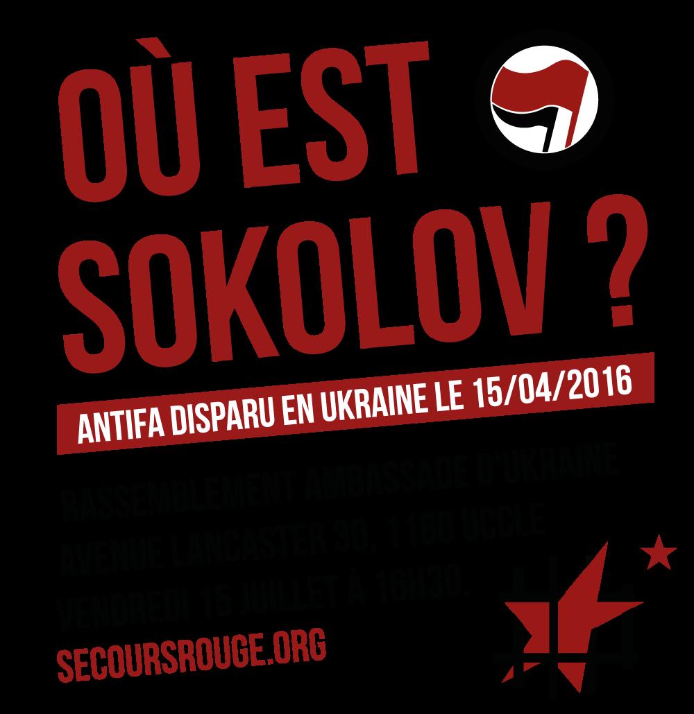 Manifestation pour Sokolov à Bruxelles