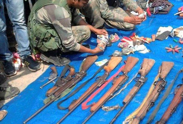 Les armes récupérées par la police